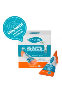 Huile de massage musculaire Bio - Boîte de 6 berlingots