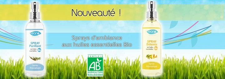 Image Communiqué de presse : EONA lance sa gamme de sprays aux huiles essentielles bio