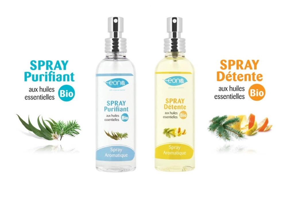 Sprays d'ambiance bio EONA