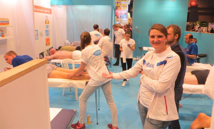 Image EONA partenaire massage des coureurs sur le salon du running